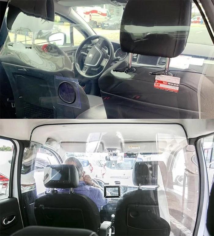 Mamparas para taxi en Madrid