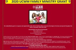 2020 Family Ministry Grant