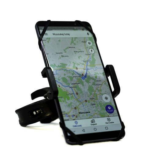 Uchwyt rowerowy na telefon double grip z GPS
