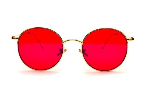 Okulary blokujące światło niebieskie Biohac okrągłe złote