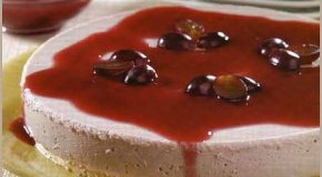Torta mousse de uvas