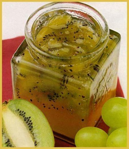 mermelada de kiwi  uva