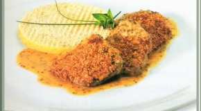 Escalopes con mostaza