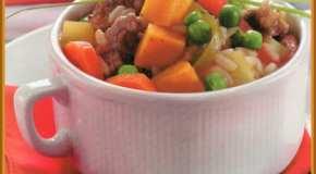 Guiso de carne y arroz