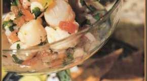 Ceviche de pescados y mariscos