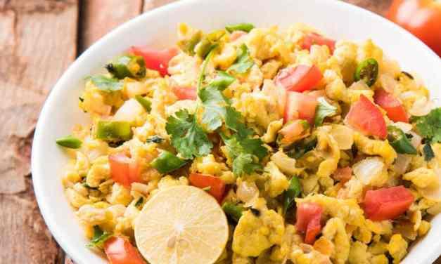 Anda Bhurji: huevos revueltos picantes al estilo hindú [Receta fácil y rápida]