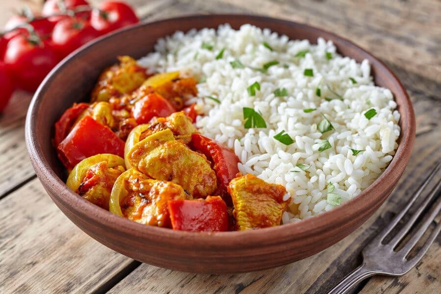 receta de pollo jalfrezi plato tipico de la india