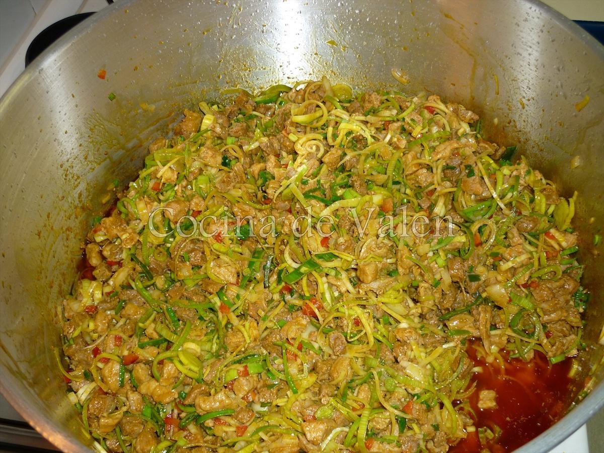 Cómo se prepara el guiso de hallacas - Cocina de Valen