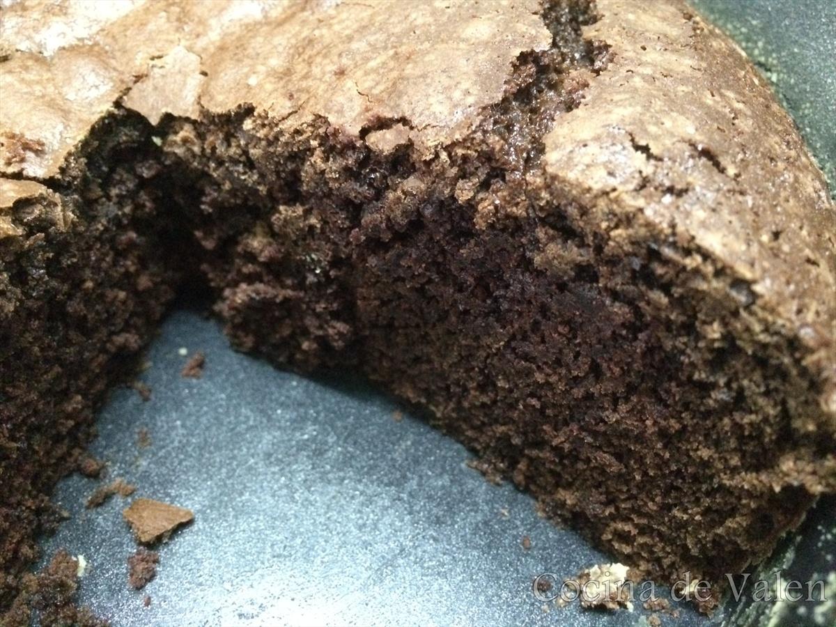 cómo hacer una tarta de chocolate tipo brownie - Cocina de Valen