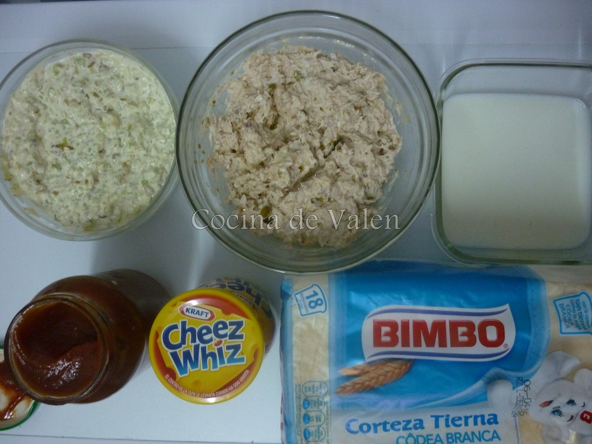 Ingredientes para el sanduchón