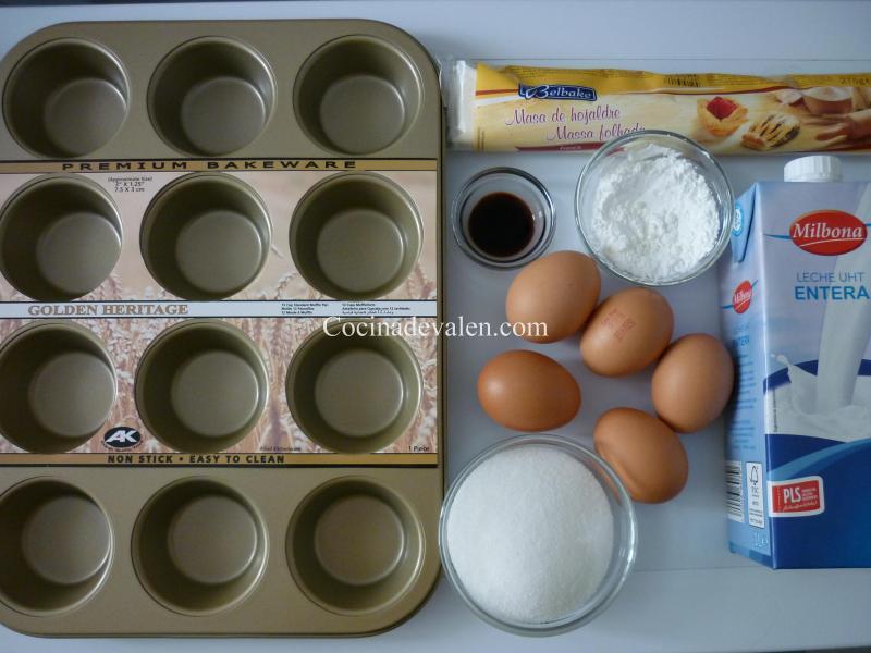 Ingredientes Pasteles de Belem - Cocina de Valen