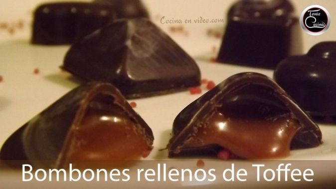 Bombones rellenos toffee 2 youtube