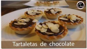 Mousse de chocolate | Tartaletas de chocolate y almendras