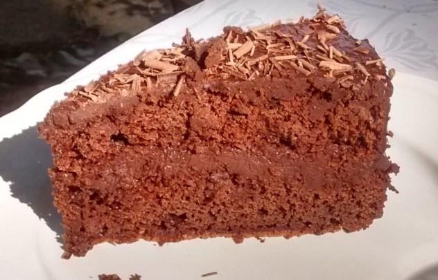 porción tarta de chocolate