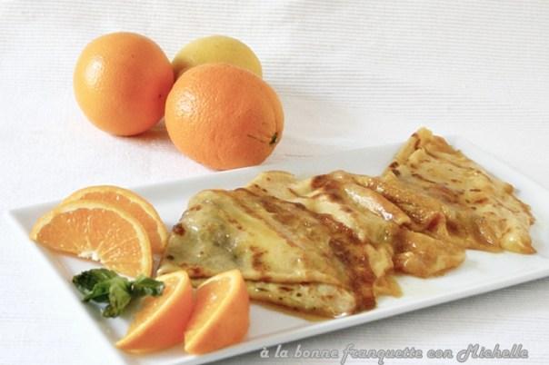 Crêpes Suzette con Mandarina y Curaçao