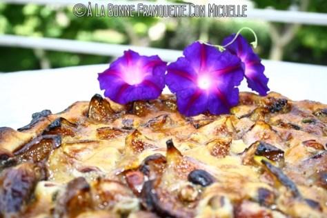 Tarte aux figues brignolaise, Tarta de higos y crema de almendras