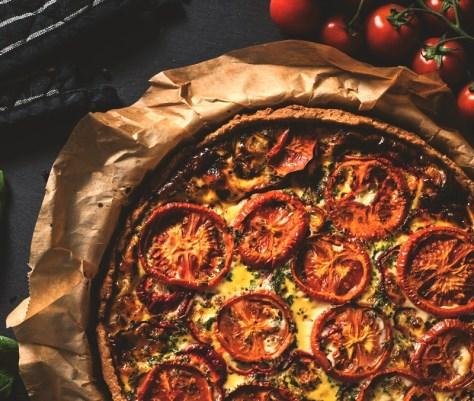 Tarte aux Tomates Provençale. Tarta de tomates a la provenzal