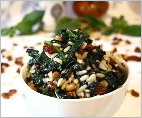 Arroz con espinacas (a la florentina)