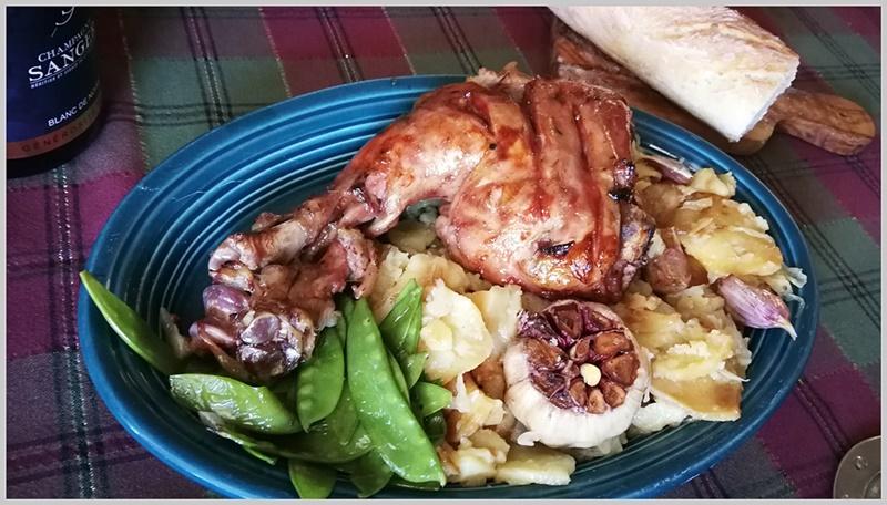 pierna de cordero cocinada sous-vide. Cocina Francia