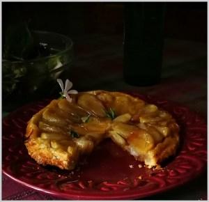 Tarta Tatin de Chalotas.