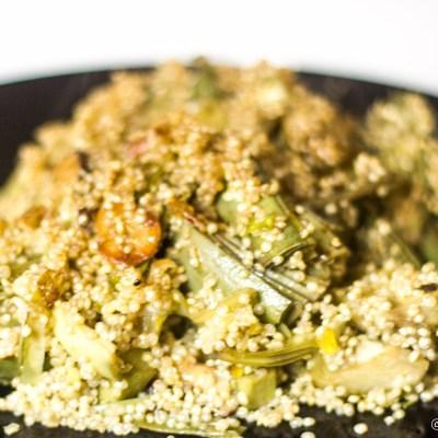 Quinoa con alcachofas
