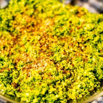 Cus-cus de brocoli con salsa anticancer