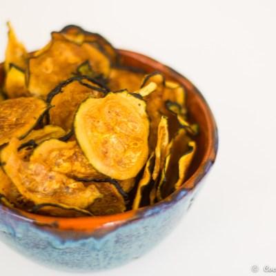 Chip de calabacin con chimichurri