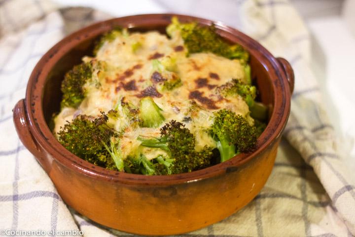 Brócoli con bechemel sin gluten