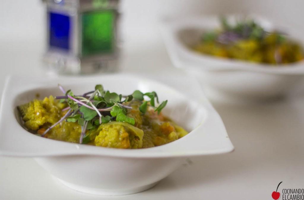 verduras al curry