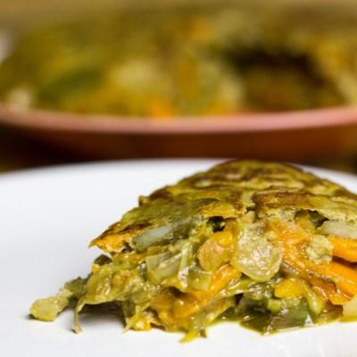 Tortilla de alcachofa y boniato