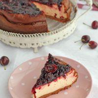 Tarta de queso y cerezas, receta paso a paso