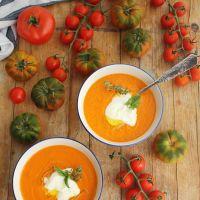 Crema de tomates asados, una crema caliente para entrar en calor