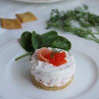 Cheese cake de salmón ahumado, tarta salada de salmón ahumado y queso