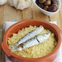 Cómo hacer Migas de sémola con sardinas en microondas