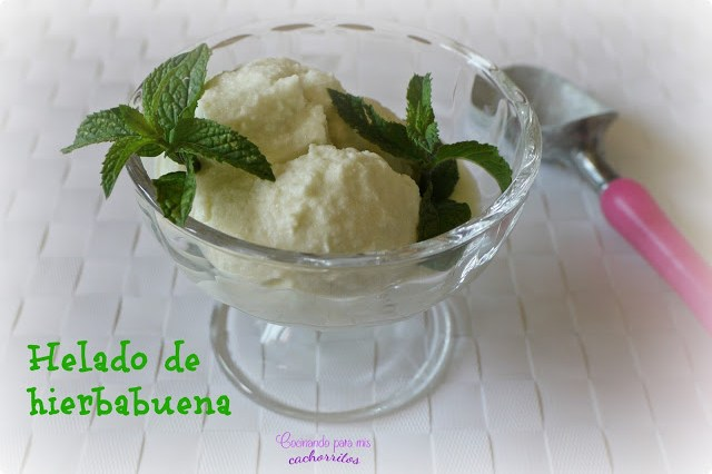 helado de hierbabuena