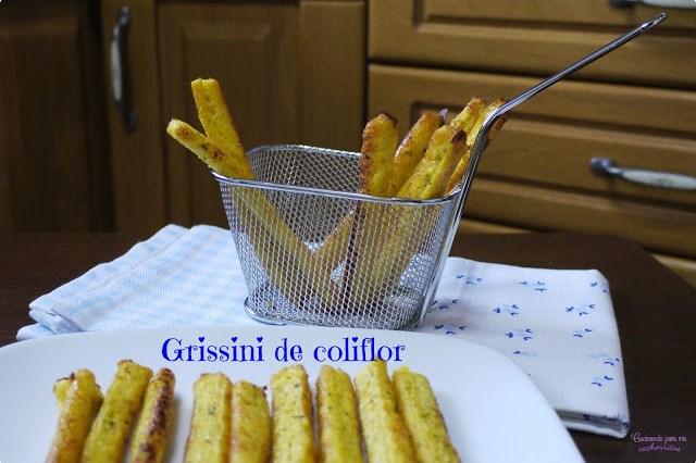 Grissini de coliflor