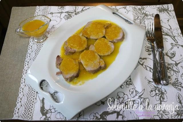 Solomillo de cerdo ibérico a la naranja