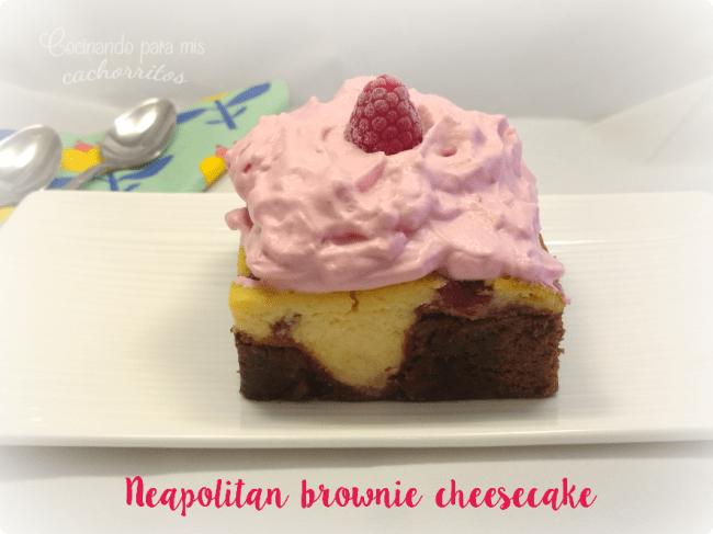 neapolitan brownie cheesecake