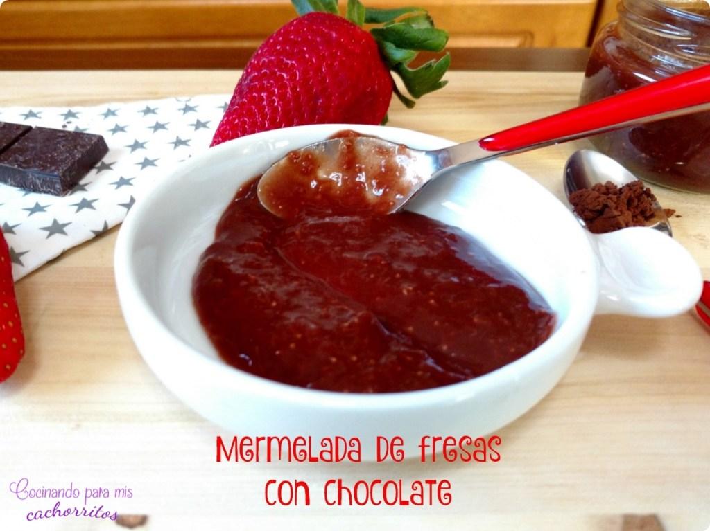 mermelada de fresas con chocolate