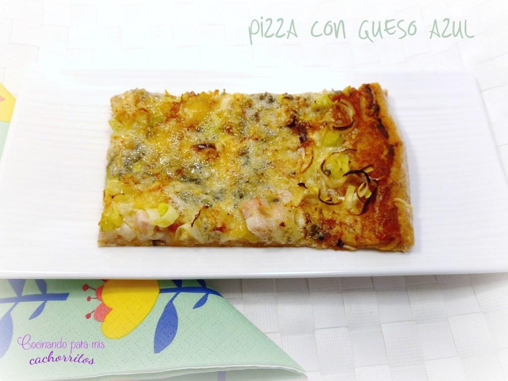 pizza con queso azul