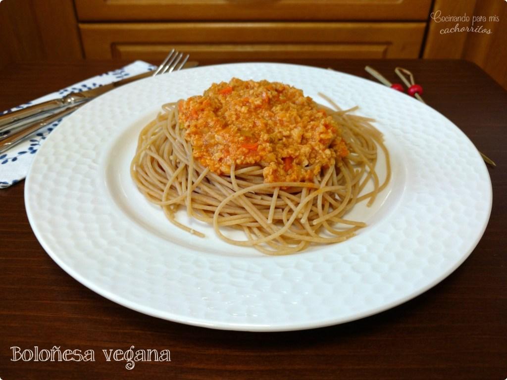 boloñesa vegana