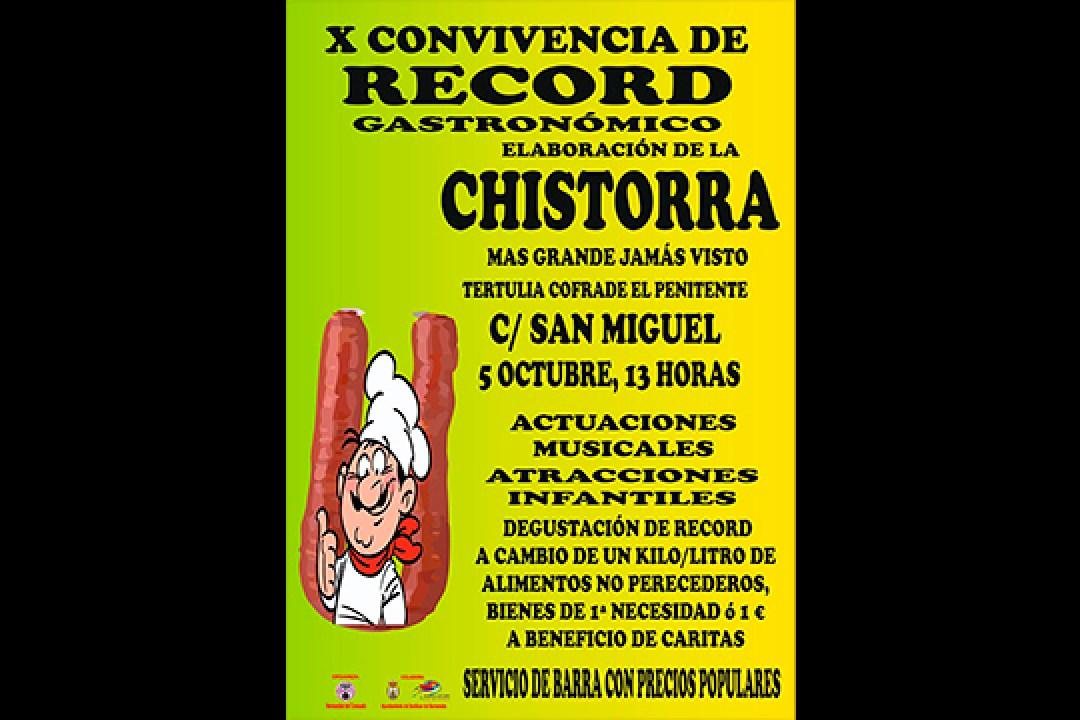 X Convivencia de Récord Gastronómico. Chistorra.