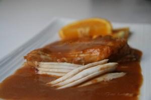 Receta fácil de raya a a la naranja agria