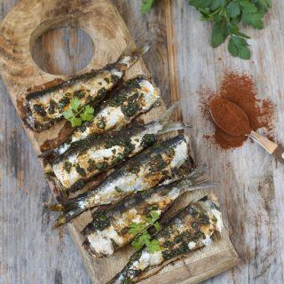 Sardinas aliñadas y asadas al horno (sin olores)