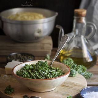 Pesto de kale y pipas de calabaza, receta fácil y rápida