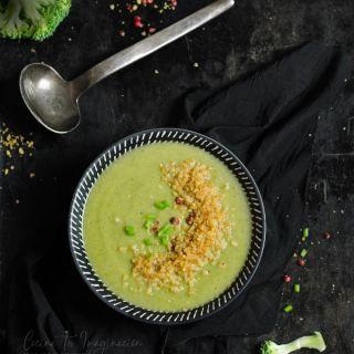 Crema de brócoli vegana, receta fácil, rápida  y saludable