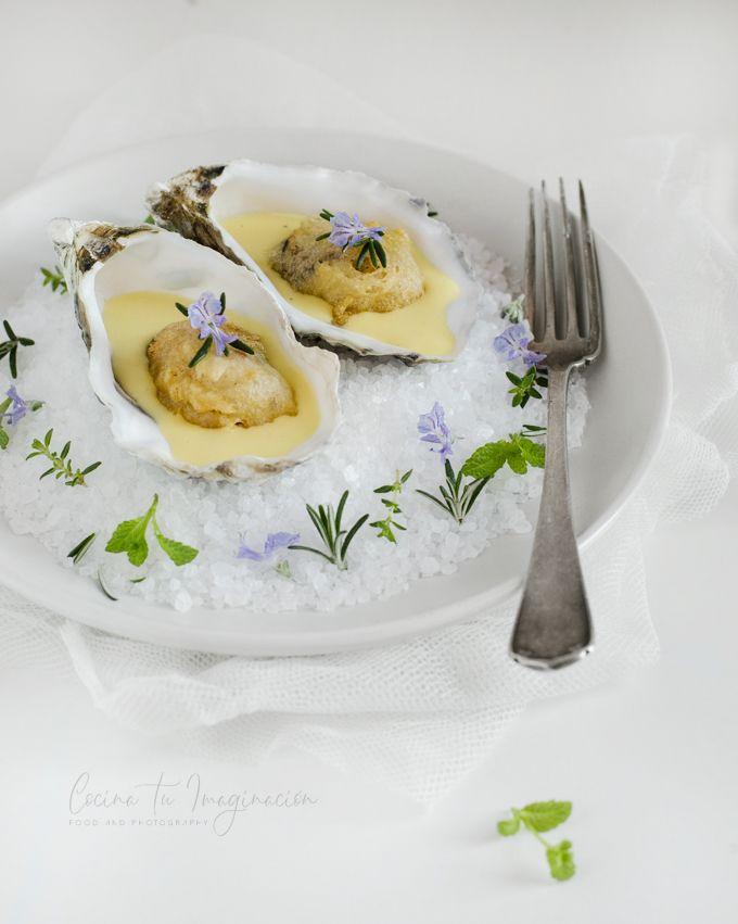 ostras en tempura