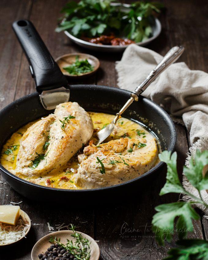 pollo con salsa
