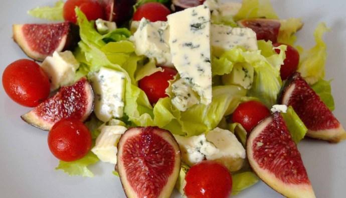 Receta de ensalada de higos y queso azul - recetas de ensaladas con frutas - recetas realfooding o real food
