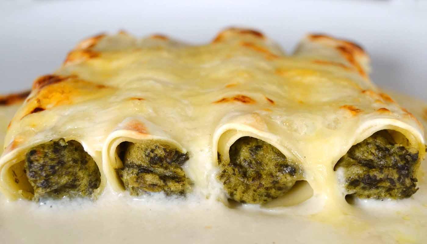 Receta de canelones de espinacas - recetas de canelones y lasañas - recetas de pasta - recetas con espinacas - recetas realfooding o real food